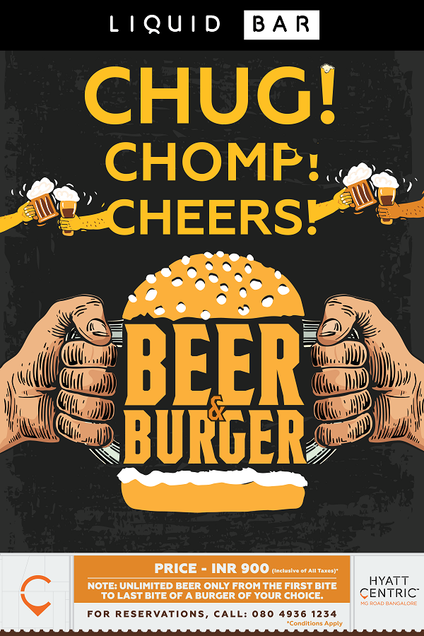 Hyatt Centric MG Road Bangalore Introduces the Beer & Burger Fest